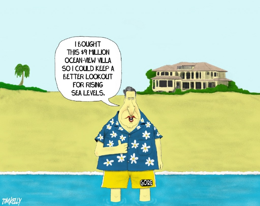 Al Gore S Beach House Jokes Of The Conservative Papers