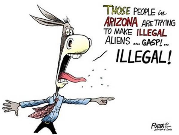 Illegal Immigration Cartoons Jokes Of The Conservative