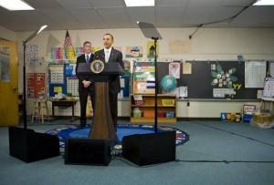 Obama with School Children