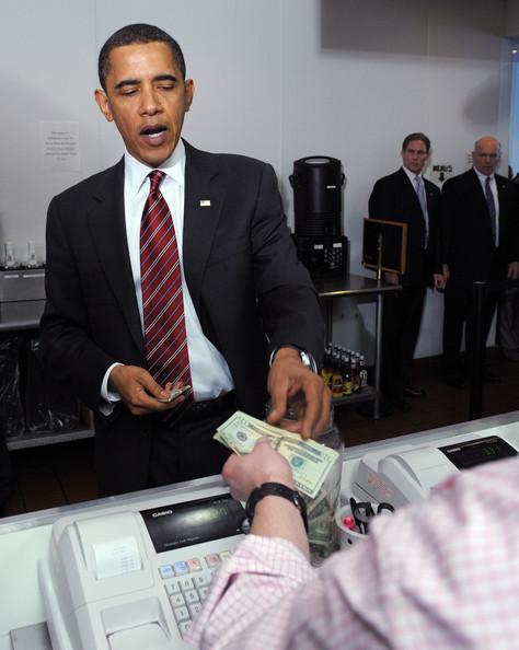 Obama at the bank