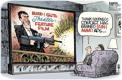 Comcast Banned Guns
