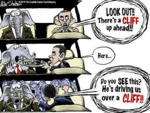 Obama Driving Off Fiscal Cliff