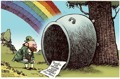 Obama and Pot of Gold