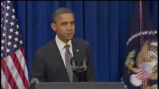 Obama Podium Speech