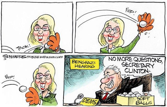 Hillary softballs