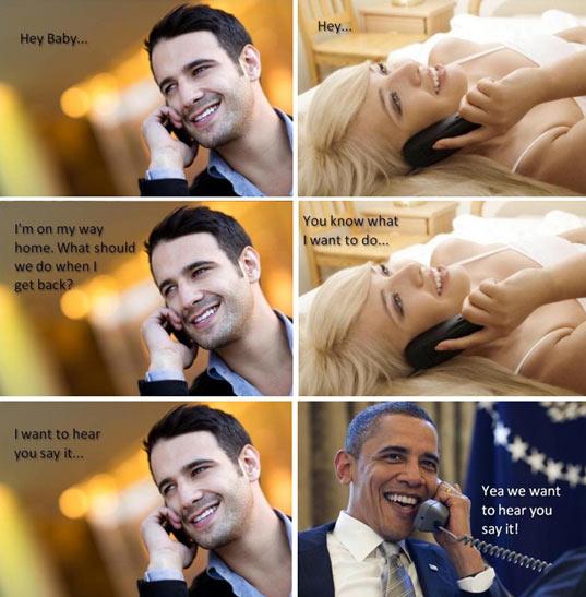 Obama listens to you