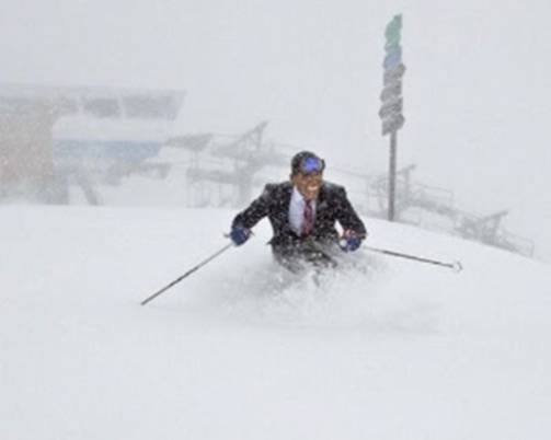 Obama Skiing