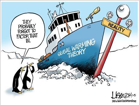 global warming boat frozen in ice
