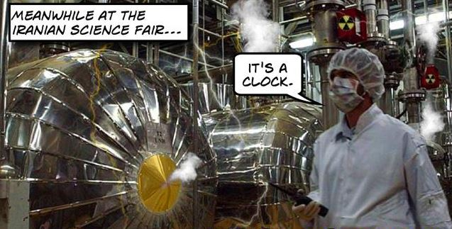 Iranian clock