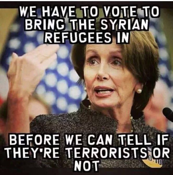 Pelosi Refugee Terrorists