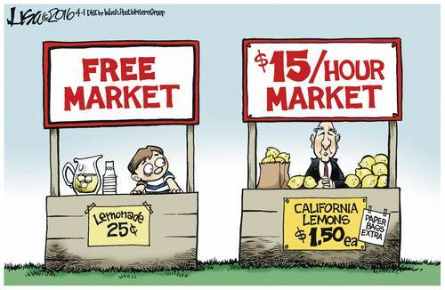 Lemonade Stand Free Market Minimum Wage
