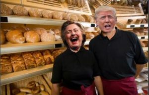 hillary-and-donald-in-a-bakery