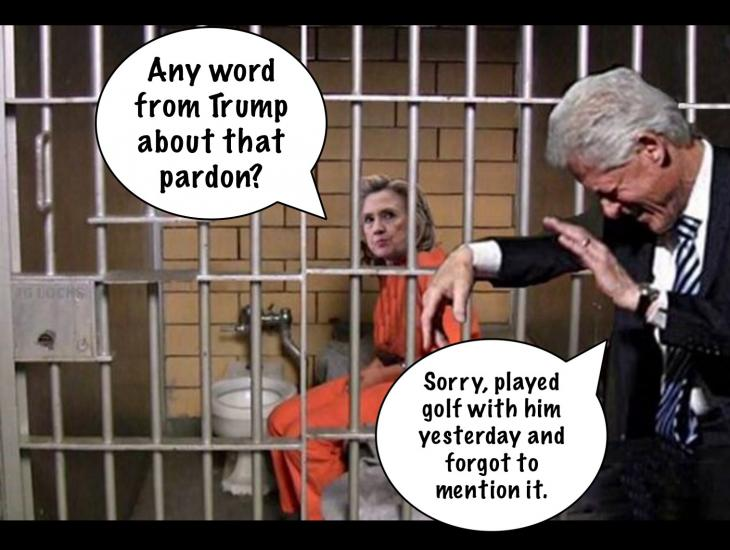 will trump pardon hillary