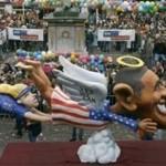 German Float: Obama & Clinton