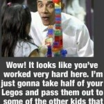 Obama Takes Legos Away From Child