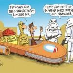 Obama's Scandals in Cartoons